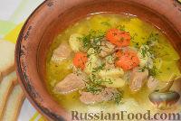 Фото к рецепту: Тушеный гуляш с овощами