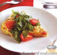 Фото к рецепту: Фриттата со сливочным сыром и ветчиной