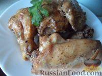 Фото к рецепту: Курица, запеченная в сметане