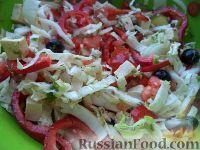 Фото к рецепту: Овощной салат с сыром фетакса