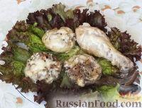 Фото к рецепту: Фаршированные грибы с курицей (в мультиварке)