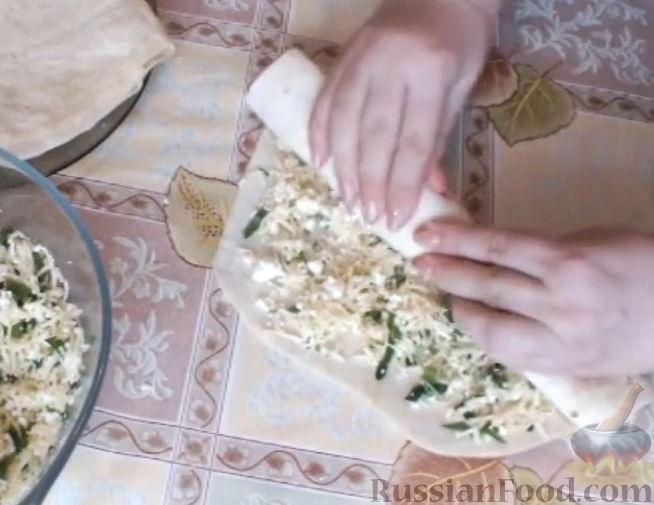 Рецепт Жареные трубочки из лаваша с сырной начинкой на