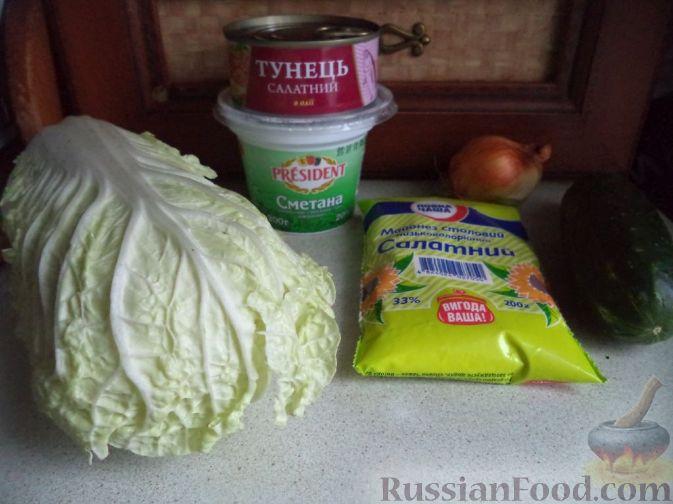 рецепт салата из тунца и пекинской капусты рецепт