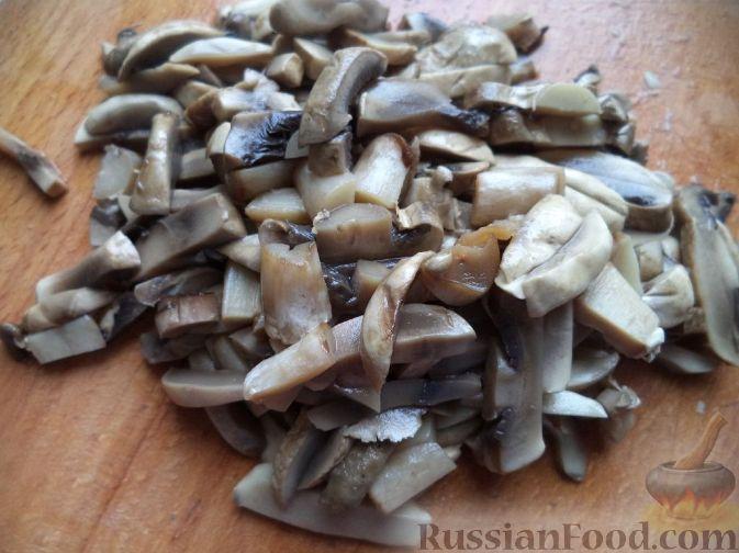 рецепт салат слоеный курино грибной