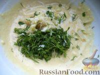 Фото приготовления рецепта: Салат из печени трески с сыром - шаг №9