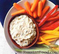 Фото к рецепту: Быстрая овощная закуска с соусом карри
