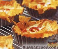 Фото к рецепту: Тарталетки с сыром и рыбой