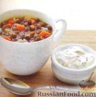Фото к рецепту: Быстрый суп с чечевицей