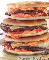 Фото к рецепту: Сэндвичи с грибами и сыром