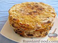 Фото к рецепту: Лепешки без масла из кус-куса