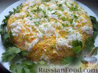 Фото к рецепту: Салат слоеный курино-грибной