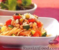 Фото к рецепту: Спагетти с фасолевым соусом