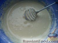 """Фото приготовления рецепта: Блинчики """"Бархатные"""" на молоке - шаг №6"""