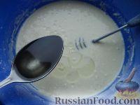 """Фото приготовления рецепта: Блинчики """"Бархатные"""" на молоке - шаг №7"""