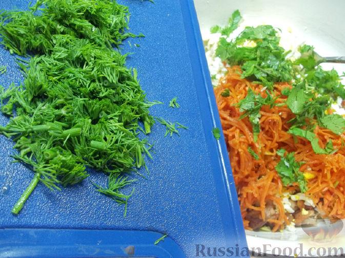 Лаваш с корейской морковью фото
