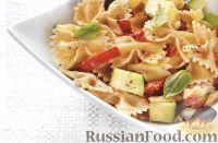 Фото к рецепту: Салат из пасты по-средиземноморски