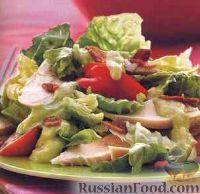 Фото к рецепту: Куриный салат с экзотической заправкой