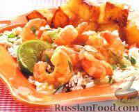 Фото к рецепту: Креветки в соусе карри