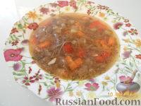 Фото к рецепту: Японский суп с гречневой лапшой