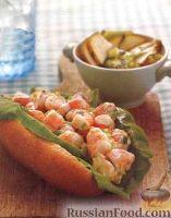 Фото к рецепту: Бургеры с креветками