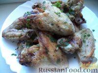Фото к рецепту: Куриные крылышки, запеченные в сметане