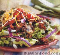 Фото к рецепту: Грибной салат с мясом