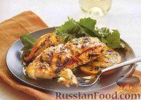 Фото к рецепту: Палтус с апельсинами