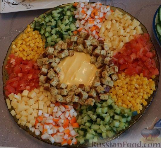 колбаса свежие огурцы салат рецепты