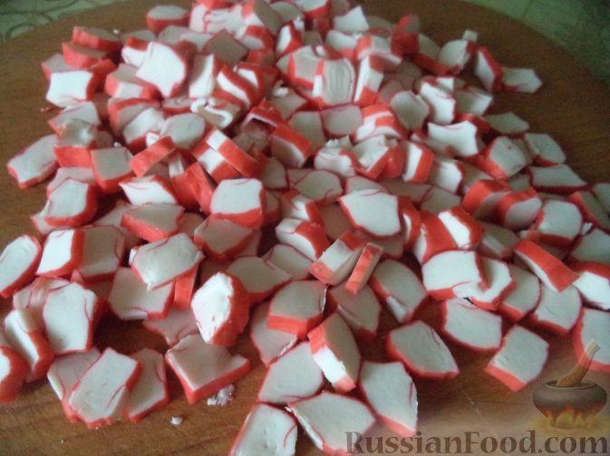 Салат из крабовых палочек рецепт с фасолью