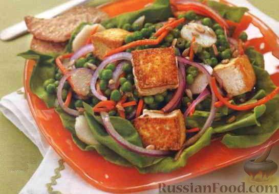Постные салаты с использованием сыра тофу