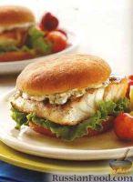 Фото к рецепту: Бургеры с морским окунем