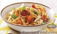 Фото к рецепту: Спагетти с печеными помидорами
