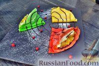 Фото к рецепту: Разноцветные блинчики с начинкой