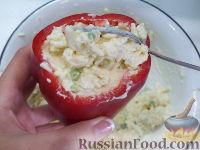 Фото приготовления рецепта: Болгарский перец с плавленым сыром - шаг №5