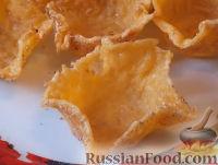 Фото к рецепту: Сырные корзинки (тарталетки)
