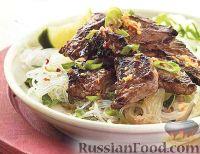 Фото к рецепту: Жареный стейк с имбирным соусом