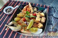 Фото к рецепту: Суп лакса, с перепёлкой и морепродуктами