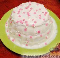Фото к рецепту: Орехово-вишнёвый торт (в микроволновке)