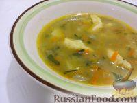Фото к рецепту: Суп картофельный с украинскими галушками