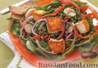 Фото к рецепту: Салат с жареным тофу