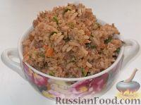 Фото к рецепту: Начинка для пирожков с печенкой и рисом