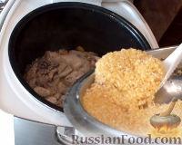 Фото приготовления рецепта: Кукурузная каша с курицей (в мультиварке) - шаг №8