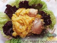Фото приготовления рецепта: Кукурузная каша с курицей (в мультиварке) - шаг №10