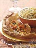 Фото к рецепту: Камбала, запеченная с овощами