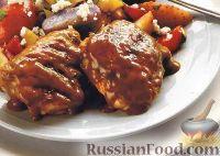 Фото к рецепту: Куриные бедрышки, жаренные под горчичным соусом