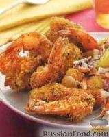 Фото к рецепту: Креветки, жаренные в панировке