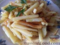 Фото приготовления рецепта: Хрустящий жареный картофель - шаг №5
