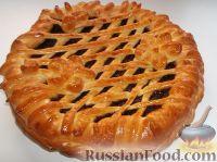 Фото приготовления рецепта: Пирог открытый с повидлом - шаг №15