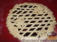 Фото приготовления рецепта: Пирог открытый с повидлом - шаг №13