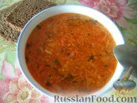 Фото к рецепту: Суп картофельный с пшеном и квашеной капустой